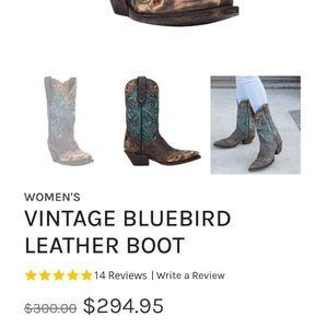 Dan Post Genuine Leather Cowboy Boots